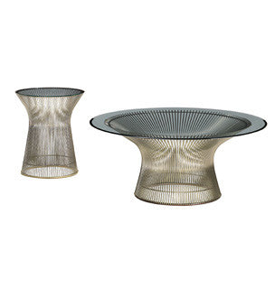 Platner Coffee and Side Tables  by Knoll, available at the Home Resource furniture store Sarasota Florida