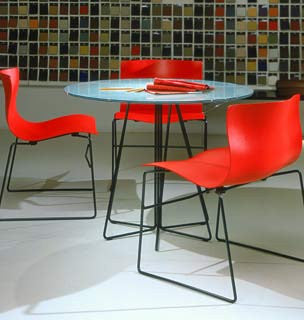 Handkerchief Stacking Chair by Knoll for sale at Home Resource Modern Furniture Store Sarasota Florida