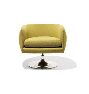 Joseph Paul D'urso Swivel Lounge by Knoll for sale at Home Resource Modern Furniture Store Sarasota Florida