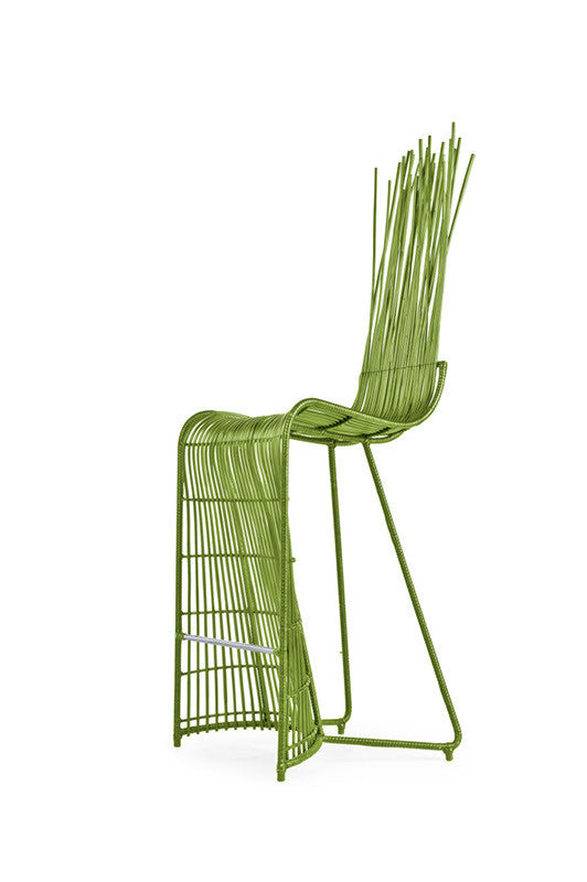 Yoda Indoor Barstool  by Kenneth Cobonpue, available at the Home Resource furniture store Sarasota Florida