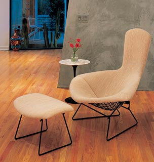 Bertoia Bird Lounge Chair and Ottoman by Knoll for sale at Home Resource Modern Furniture Store Sarasota Florida
