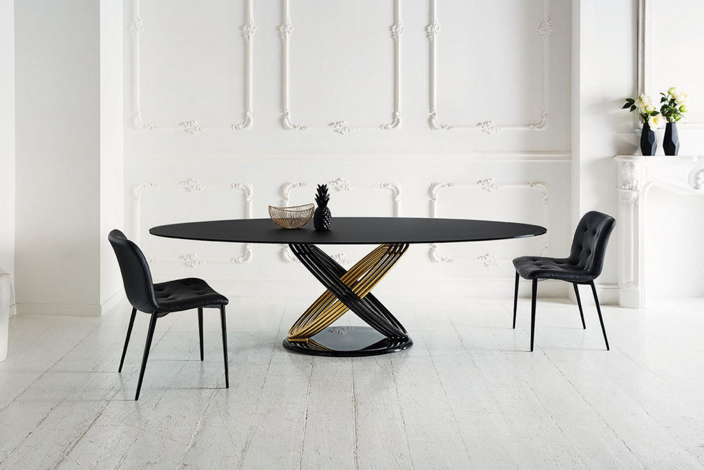 FUSION DINING TABLE  by BonTempi, available at the Home Resource furniture store Sarasota Florida