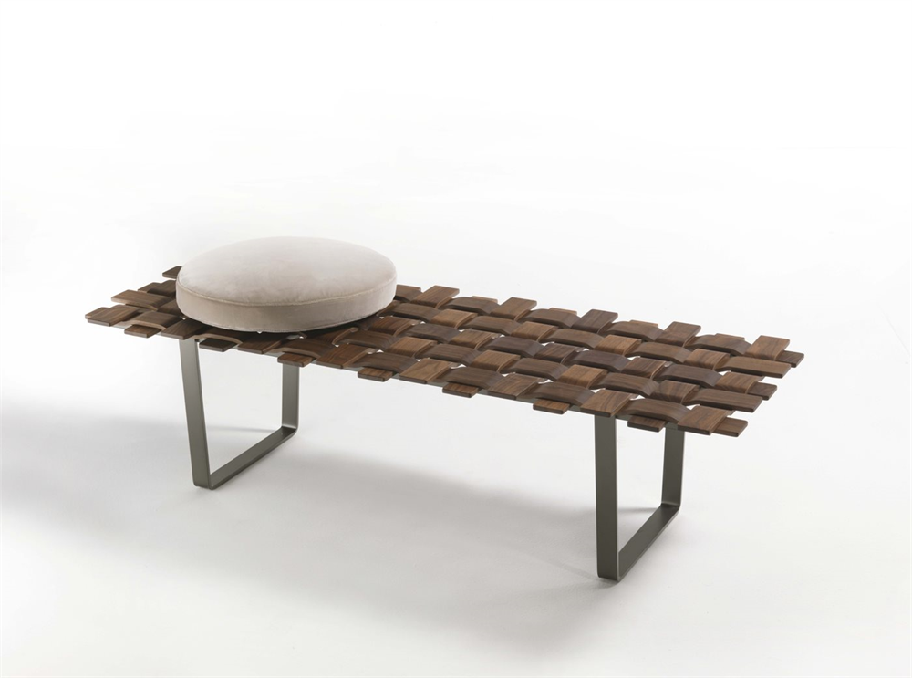 BELT BENCH  by Porada, available at the Home Resource furniture store Sarasota Florida