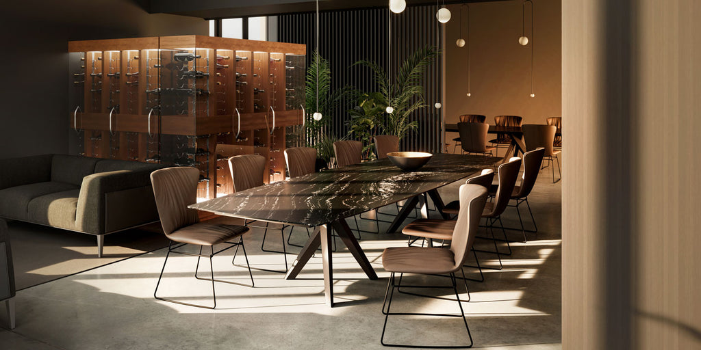 TRILOPE DINING TABLE by DRAENERT for sale at Home Resource Modern Furniture Store Sarasota Florida