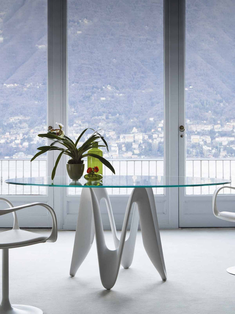 Lambda Table  by Sovet Italia, available at the Home Resource furniture store Sarasota Florida