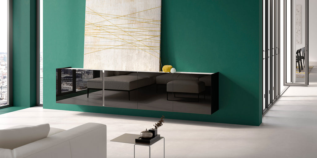 JOREL WALL MOUNTED SIDEBOARD  by INTERLUBKE, available at the Home Resource furniture store Sarasota Florida