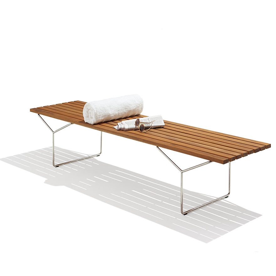 BERTOIA OUTDOOR BENCH  by Knoll, available at the Home Resource furniture store Sarasota Florida