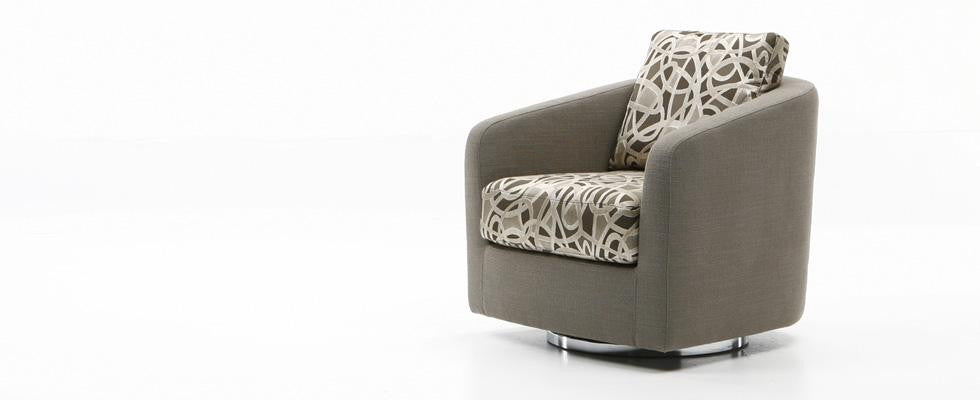 Maya Swivel Chair  by Dellarobbia, available at the Home Resource furniture store Sarasota Florida