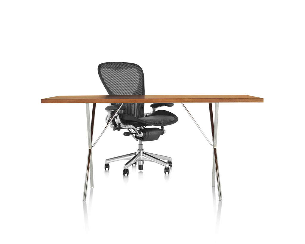 NELSON X LEG WORK TABLE/DESK  by Herman Miller, available at the Home Resource furniture store Sarasota Florida