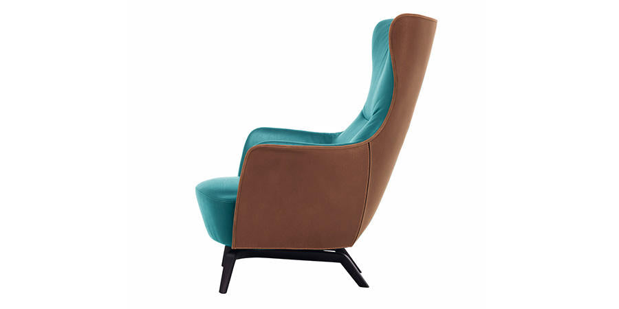 MAMY BLUE HIGH BACK CHAIR by Poltrona Frau for sale at Home Resource Modern Furniture Store Sarasota Florida