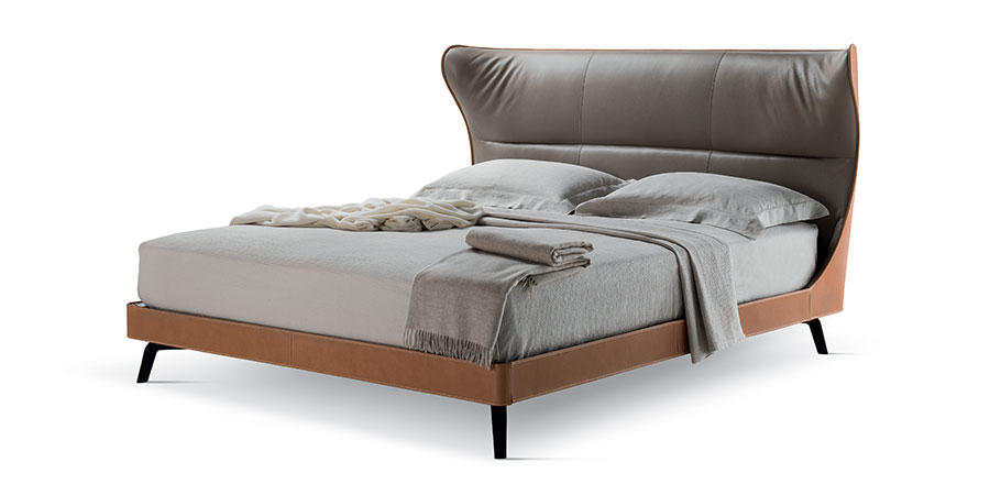 MAMY BLUE BED  by Poltrona Frau, available at the Home Resource furniture store Sarasota Florida