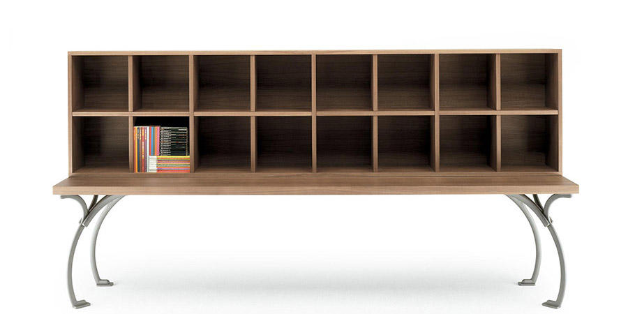 SANGIROLAMO BOOKCASE  by Poltrona Frau, available at the Home Resource furniture store Sarasota Florida
