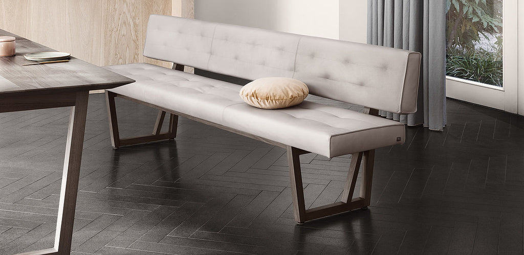 ROLF BENZ 624 UPHOLSTERED BENCH by Rolf Benz for sale at Home Resource Modern Furniture Store Sarasota Florida