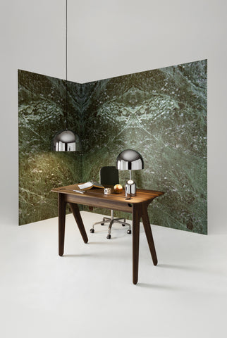 SLAB INDIVIDUAL DESK SMALL FUMED OAK by TOM DIXON