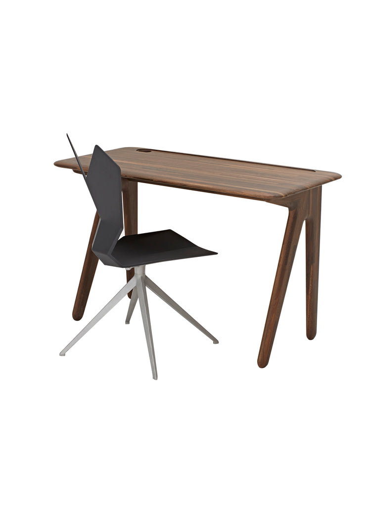 SLAB INDIVIDUAL DESK SMALL FUMED OAK by TOM DIXON for sale at Home Resource Modern Furniture Store Sarasota Florida