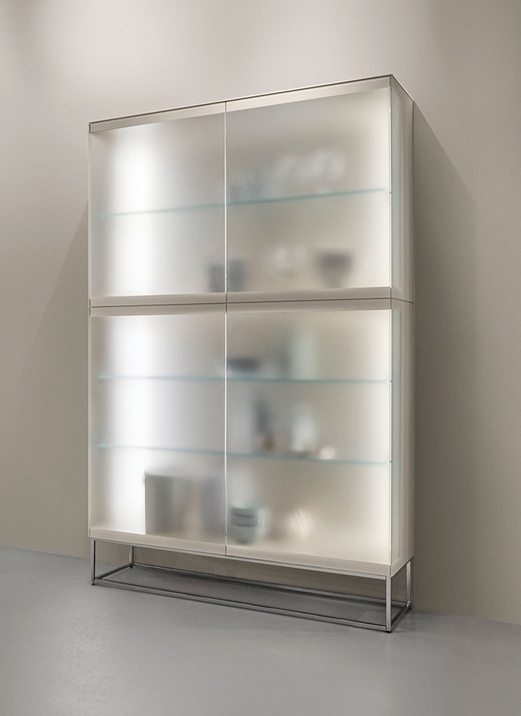 SOMA SATIN GLASS CABINET  by KETTNAKER, available at the Home Resource furniture store Sarasota Florida