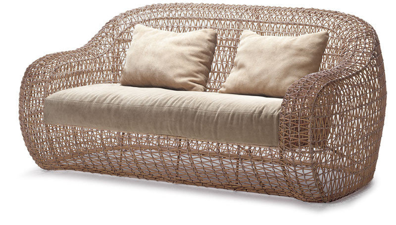 Balou Loveseat  by Kenneth Cobonpue, available at the Home Resource furniture store Sarasota Florida