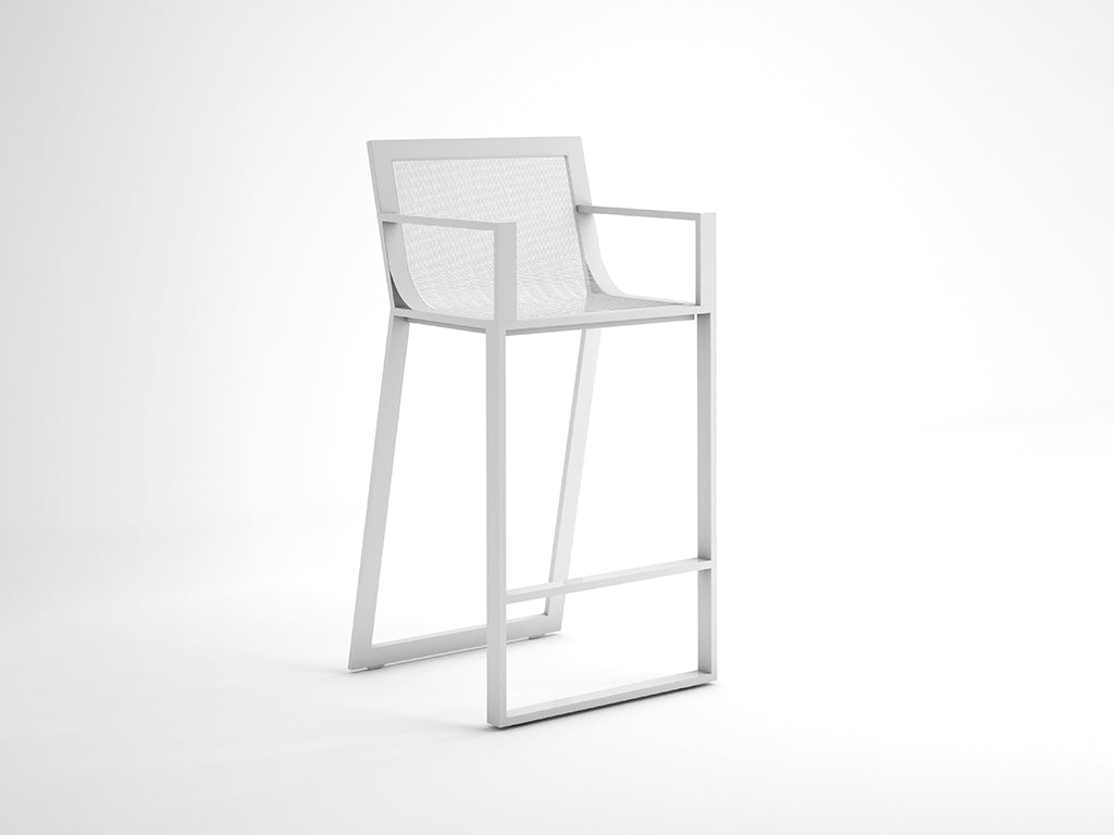 BLAU STOOL WITH HIGH BACKREST  by Gandia Blasco, available at the Home Resource furniture store Sarasota Florida