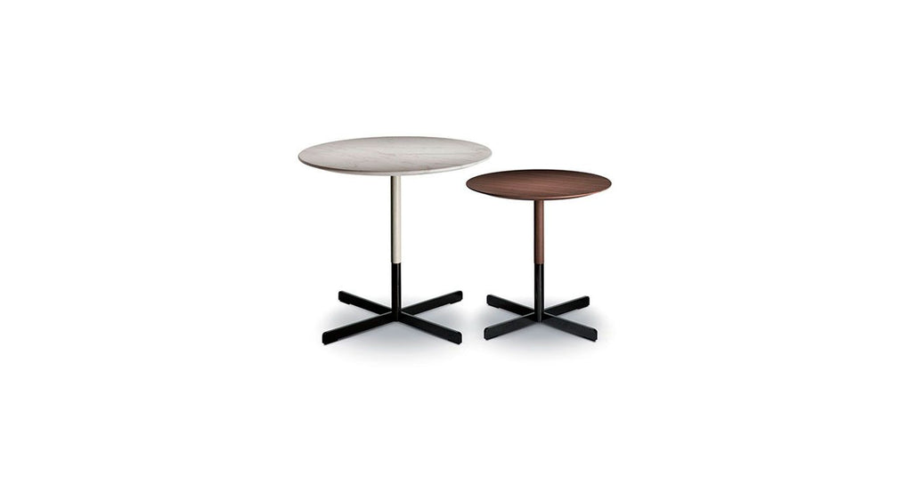 BOB SIDE TABLES  by Poltrona Frau, available at the Home Resource furniture store Sarasota Florida