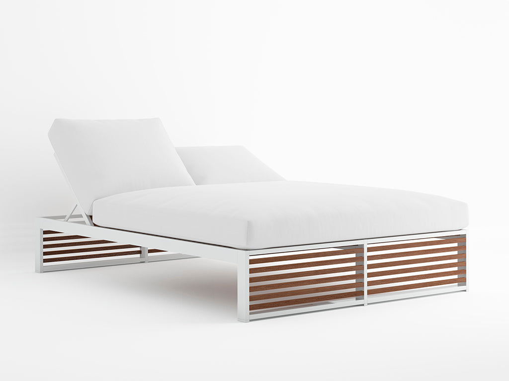 DNA TEAK CHILL BED  by Gandia Blasco, available at the Home Resource furniture store Sarasota Florida