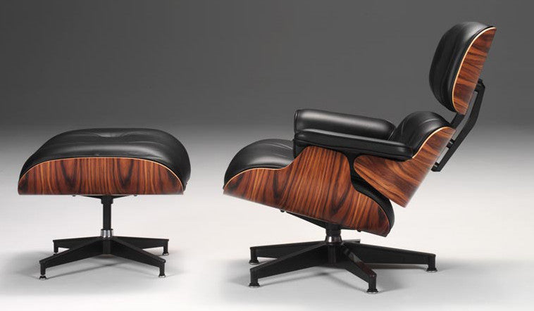 Eames Lounge Chair and Ottoman  by Herman Miller, available at the Home Resource furniture store Sarasota Florida