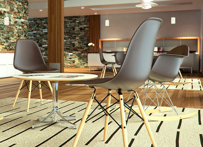 Eames Molded Plastic Chairs by Herman Miller for sale at Home Resource Modern Furniture Store Sarasota Florida