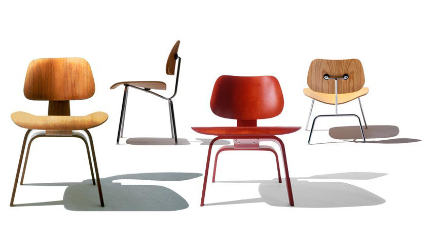 Eames Molded Plywood Chairs by Herman Miller for sale at Home Resource Modern Furniture Store Sarasota Florida