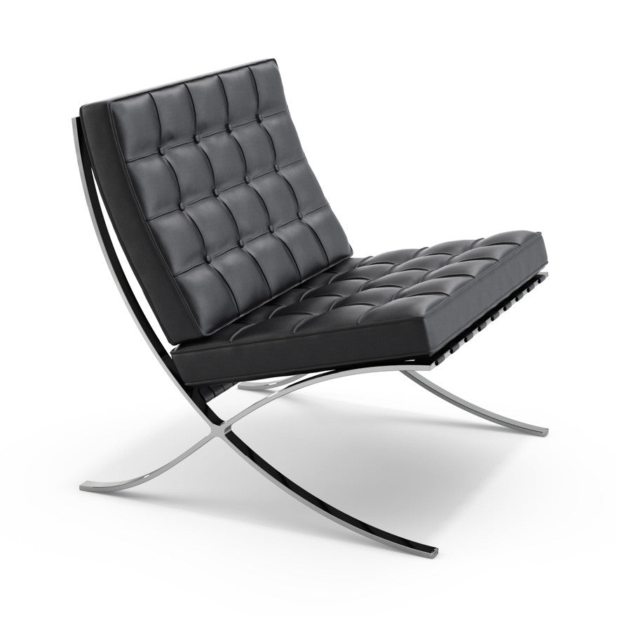 Barcelona Chair  by Knoll, available at the Home Resource furniture store Sarasota Florida
