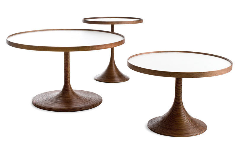 La Luna Occasional Tables  by Kenneth Cobonpue, available at the Home Resource furniture store Sarasota Florida