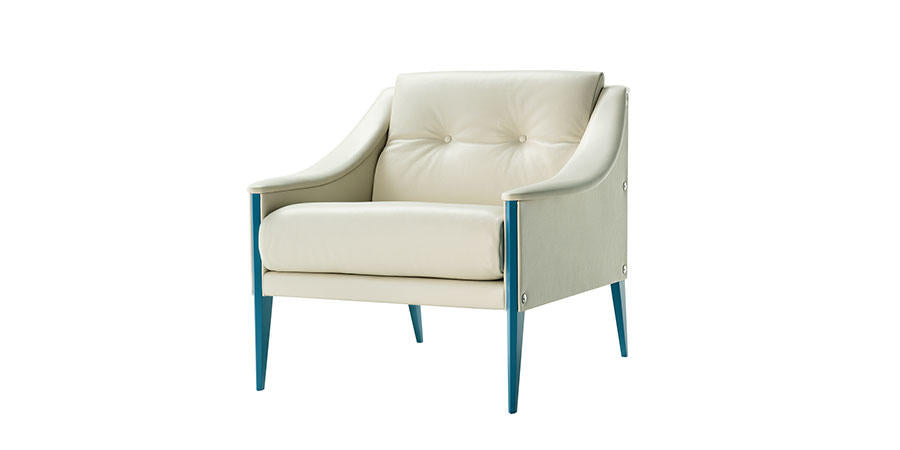 DEZZA ARMCHAIR  by Poltrona Frau, available at the Home Resource furniture store Sarasota Florida