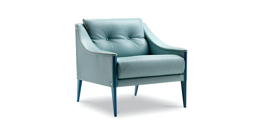 DEZZA ARMCHAIR by Poltrona Frau for sale at Home Resource Modern Furniture Store Sarasota Florida