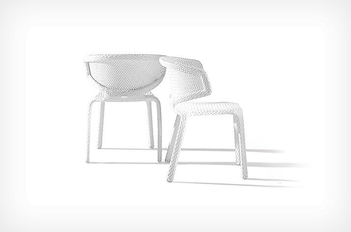 Seashell Side Chair  by Dedon, available at the Home Resource furniture store Sarasota Florida
