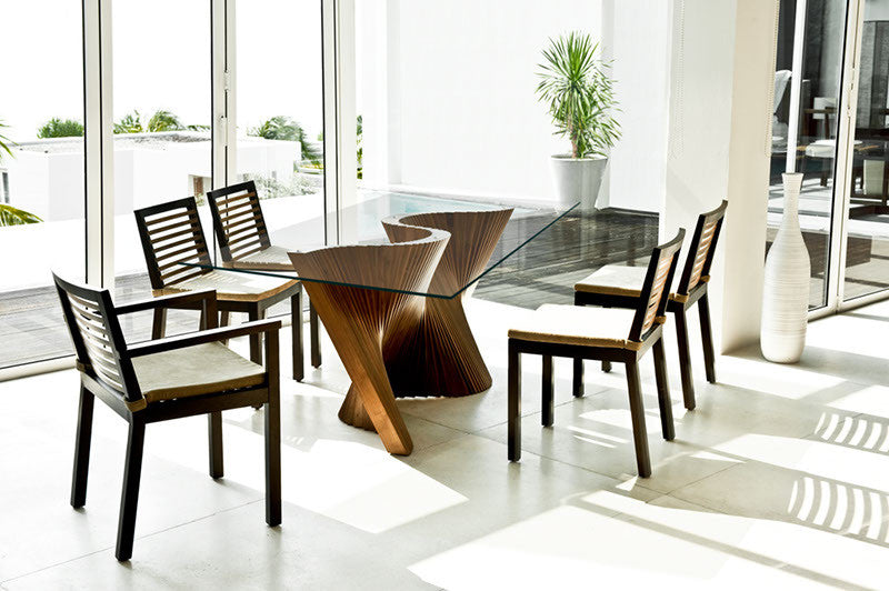 Wave Dining Table  by Kenneth Cobonpue, available at the Home Resource furniture store Sarasota Florida