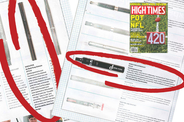 Dank Fung's Executive & Express Pens Rank TOP 5 & 20 by HIGH TIMES Magazine!