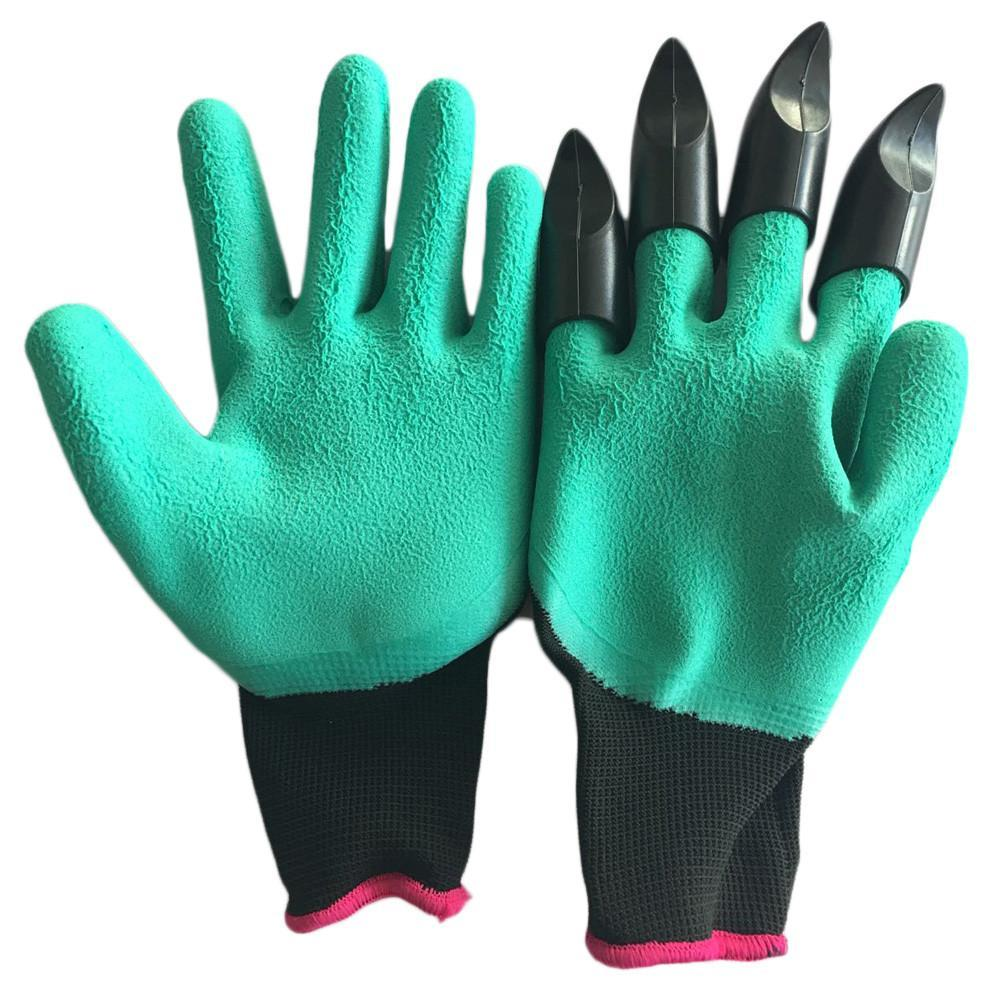Household Gloves Pair Of Rubber Polyester Garden Gloves [Ideal for Garden]