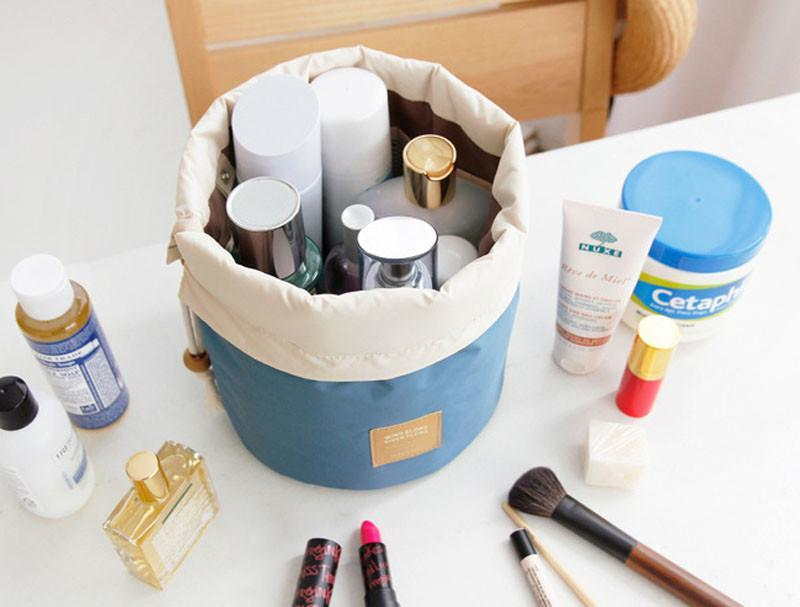 Storage Bags Blue Cosmetic Wash Makeup Bag [Good for Home&Travelling]