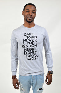 Foreigna Your Journey L/S Tee - Grey - FOREIGNA