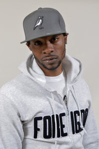 Foreigna Cool Grey PW Logo Snap-Back Cap