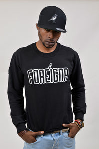 FOREIGNA LOGO Sweater - Black