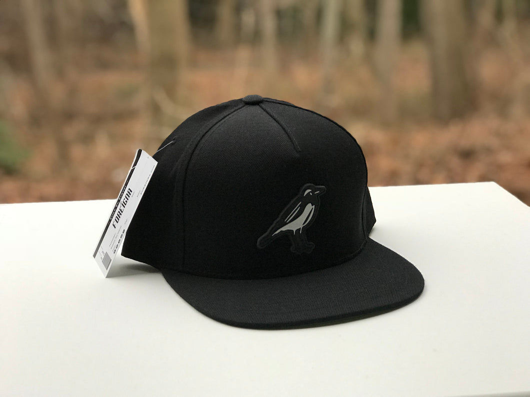 Foreigna Black PW Logo Snap-Back Cap