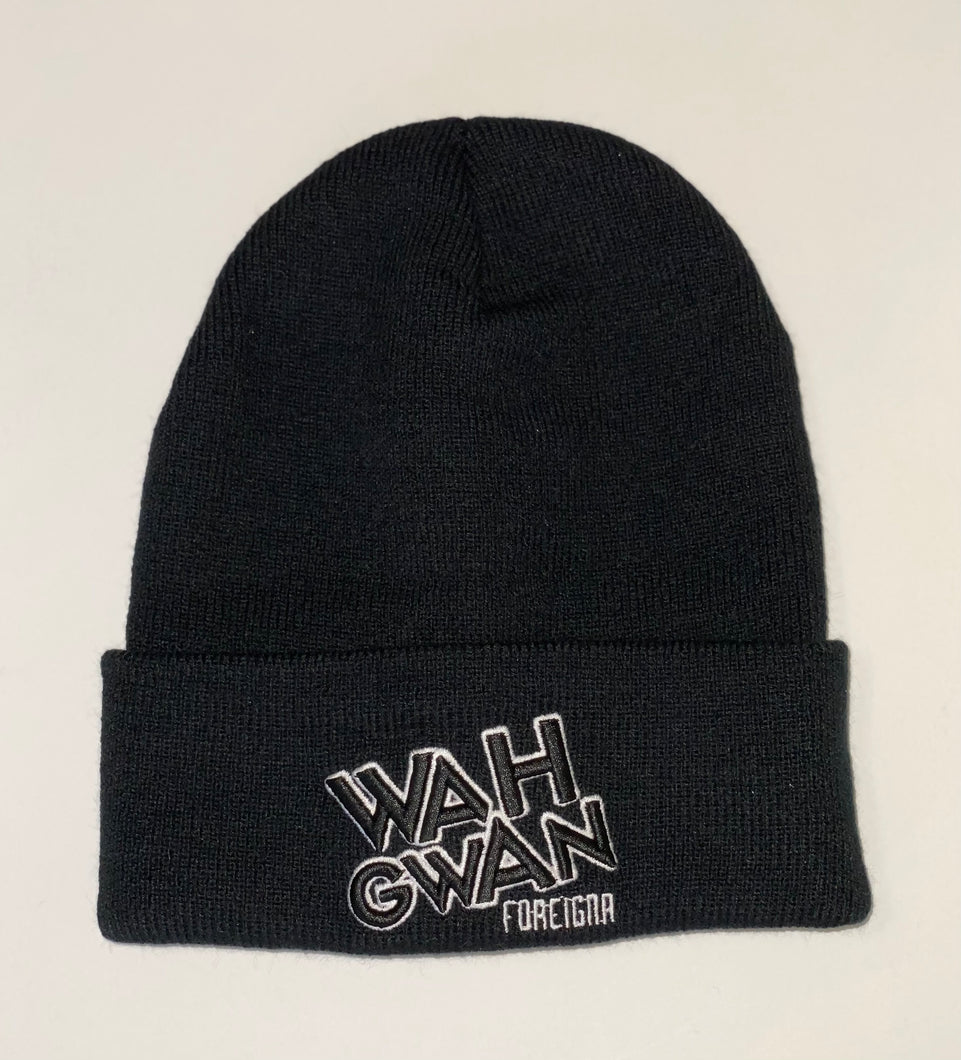 FOREIGNA Wah Gwan Beanie Hat - Black - FOREIGNA