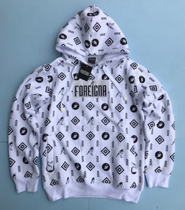 Foreigna Monogram Pullover Hoodie