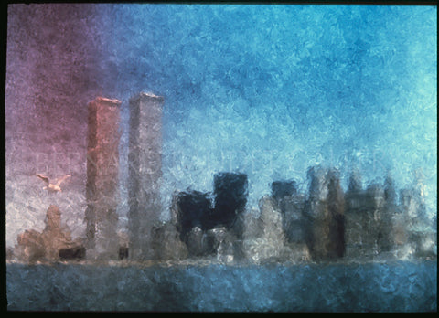 TWIN TOWERS NEW YORK CITY 1977