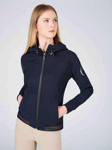 F.WORDS Facet Half Zip Pin Tucks - Coldblack