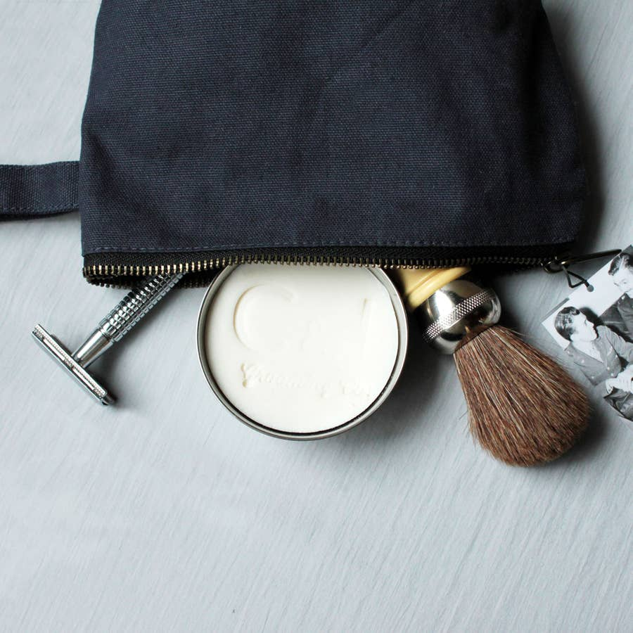 Shave Kit Fresh Mint (Shave Soap Bowl + Razor + Brush + Bag)