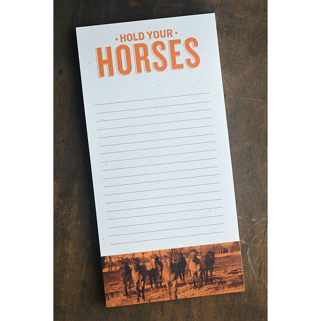 Hold Your Horses Notepad