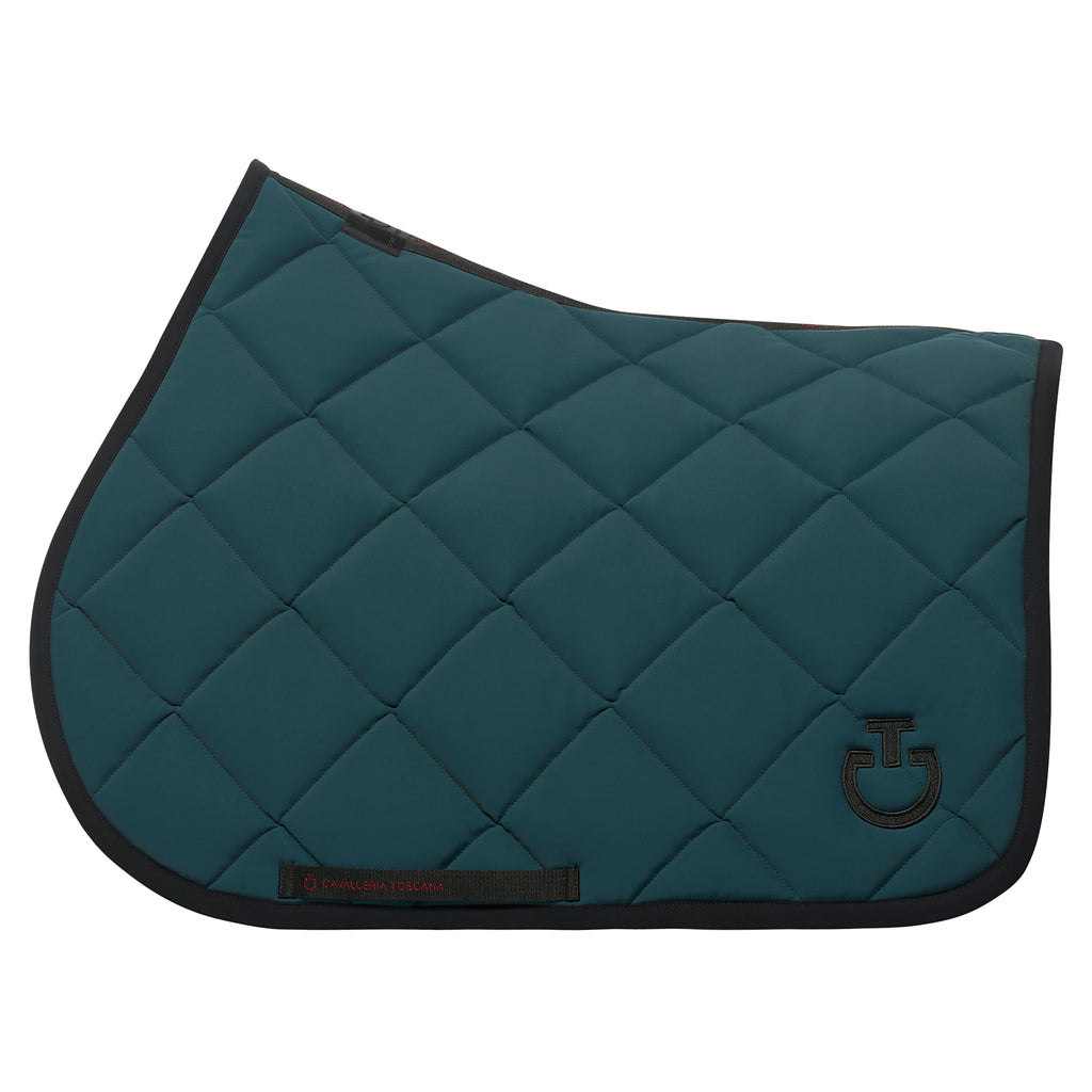 Cavalleria Toscana Rhombi-Quilted Jumping Saddle Pad - Teal