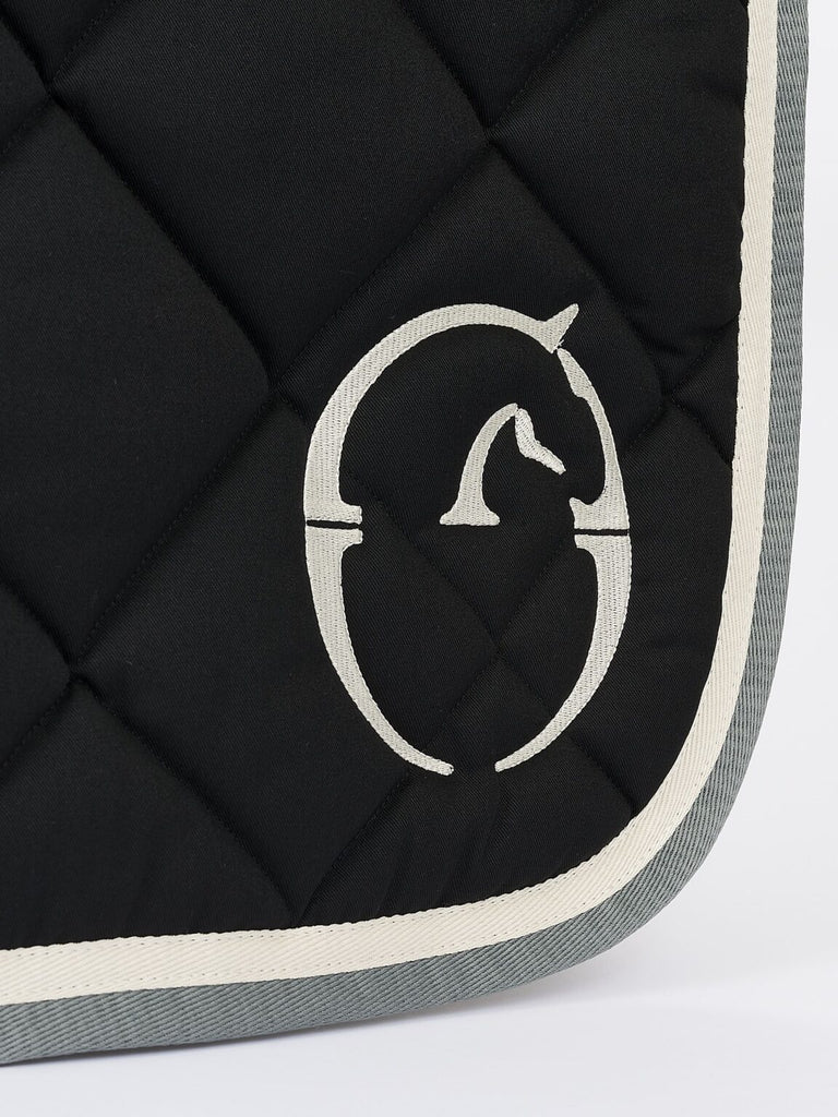 VESTRUM Bonn Saddle Pad - Black with Cream Border