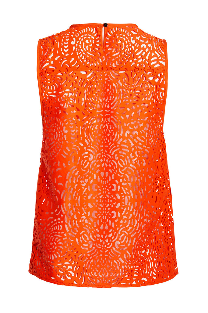 F.WORDS Fauve Tank - Papaya Laser Cut