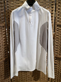 Cavalleria Toscana Women's Jersey Long Sleeve Competition Polo Shirt w/ Perforated